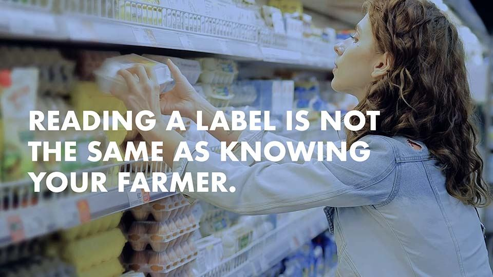 """Reading a label is not the same as knowing your farmer."""